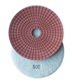 "5"" Wet Diamond Polishing Pad, 500 grit"