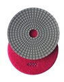 "5"" Wet Diamond Polishing Pad, 4000 grit"