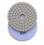 "5"" Wet Polishing Buff Pad, White Buff"