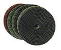 "7"" Wet Polishing Pad Set with Black Buff"