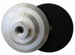 4 inch Velcro Back-up Pad, Aluminum, Rigid, 5/8 inch -11 Thread