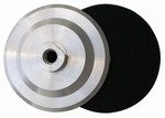 5 inch Velcro Back-up Pad, Aluminum, Rigid, 5/8 inch -11 Thread