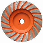 4 inch Fine Turbo Cup Wheel,  5/8 inch -11