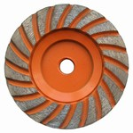 4 inch Medium Turbo Cup Wheel,  5/8 inch -11
