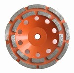 5 inch Double Row Cup Wheel, Coarse, 5/8 inch -11