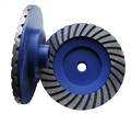 "5 inch Fine Turbo Cup Wheel,  5/8""-11 thread"