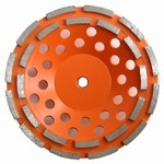 7 inch Double Row Cup Wheel, Coarse, 5/8 inch -11