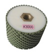 "3"" x 2"" Resin Bond Drum Wheel 3000 Grit, 5/8"" -11, Wet Use"