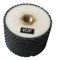 "3"" x 2"" Resin Bond Drum Wheel Black Buff, Wet Use"