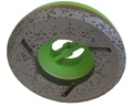 4 inch Diamond Shaping Wheel, Fine, Step 2