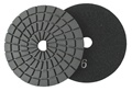 4 inch Edge Polishing Pad, Velcro Back, Black Buff