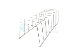 "Pouch Sterilization Racks, Stainless Steel - 10 slots, 1.5"" spacing, 16.5"" x 4"" x 4"""