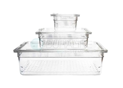 Clear Instrument Soaking Tray with Strainer and Lid