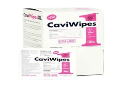 "CaviWipes1  Surface Disinfectant 13-5155 9"" x 12"" X-Large Singles, 50 single XL wipes/box, 6 box/cs"