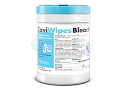 "CaviWipes Bleach 6"" x 10.5""  90 wipes/canister, 12 canisters/cs"
