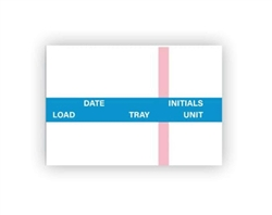 Labelex Dual-Ply Date, Load, Tray, Unit, Initials and Indicator Strip (blue) Labels 500/roll, 12 rolls/pk