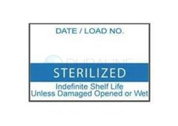 "Labelex Dual-Ply Blue ""Sterilized"" Labels L-Z20-DS-BL 500/roll, 12 rolls/pk"
