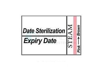 Labelex Autoclave Labels with Expiry Single-Ply 1,000 labels/roll, 12 rolls/pk