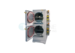 New Priorclave Dual 150L Front Loading Chambers Electrically Heated Autoclave