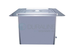 Recessed Ultrasonic Cleaner with heat & basket 10 Liter, 2.64 gallon