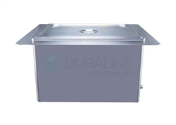 "Recessed Ultrasonic Cleaner with heat & basket 19 Liter, 5 gallon 8"" deep tank"