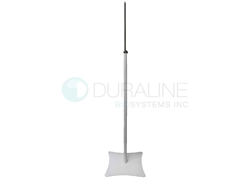 "Sanitizer Stand, White Powder-Coated Finish, with 24"" Adjustable stainless steel mount for Thermometer"