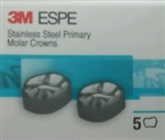 3M ESPE 5 Stainless Steel Primary Molar Crowns All sizes Dental