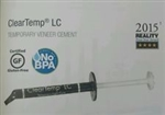 Clear Temp Cleartemp LC Temporary Light Cure Veneer Dental Cement Ultradent