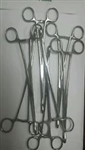 Forceps Gauze Pad Holding Foerster 9-9.75inch lg Box Lock Lot of 7 Pakistan