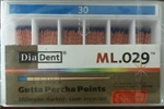 Diadent Gutta Percha Points Size 30 ISO Color Coded Box of 120