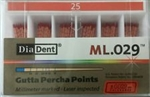 Diadent Gutta Percha Points Size 25 ISO Color Coded Box of 120