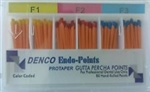 F1-F3 Gutta Percha Points Denco Box of 60 Dental Root Canal Compatible Protaper