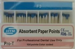 Absorbent Paper Points Protaper Dentsply Style F3 Color Coded Dental Endo