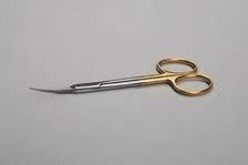"Iris 4"" Scissors Gold German Steel Curved Germany Dental Medical Surgical"