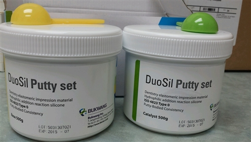 Dental Impression Material DuoSil Putty Set 1000 g Like 3M Dentsply Kerr