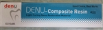Denu Dental Composite Resin Light Cure 4g Nano Filler Like 3M Dentsply Kerr, A1, A2, A3, A3.5, B2