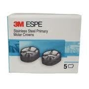 3M ESPE 5 Stainless Steel Primary Molar Crowns All sizes