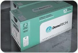 Demetech Dental Medical Surgical Sutures Silk with Needle Pack of 12