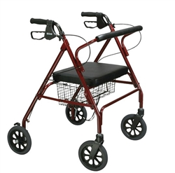 Drive Medical Go-Lite Bariatric Steel Rollator, 500lb Capacity