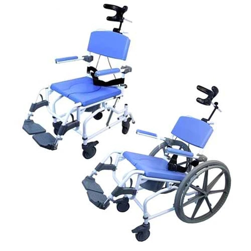 EZee Life Tilting Rehab Shower Commode Chair - Shower Commode Wheelchair