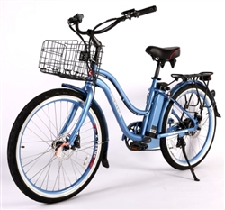 X-Treme Malibu Beach Cruiser 36 Volt  Electric Bicycle,