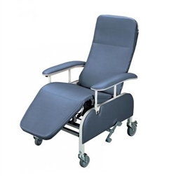 Tilt-In-Space Drop Arm Reclining Geriatric Chair