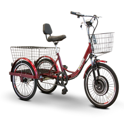 EWheels EW-29 Scoot-Around Pedal or Electric Power 3 Wheel Trike