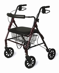 Extra Wide Bariatric Rollator, Capacity 400 lbs