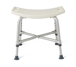 Medline Bariatric Bath Bench without Back - 550 lbs. weight capacity