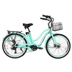 X-Treme Malibu Beach Cruiser 24 Volt Electric Bicycle, Pink/Black