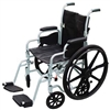 Drive Medical Poly Fly Lightweight Transport Chair - Wheelchair Combo