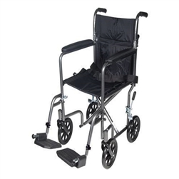 Drive TR37E-SV Steel Transport Chair