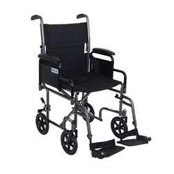Drive Lightweight Steel Transport Chair w/ Removable Armrests