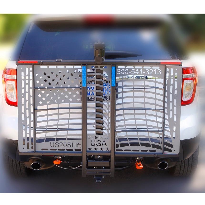 WheelChair Carriers Patriotic Electric Lift & WheelChair Carriers Patriotic Electric Lift - Outside Power Vehicle Lift